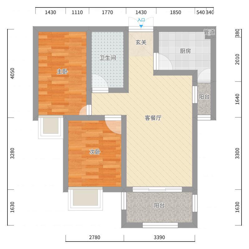 龙城-国际街区户型图