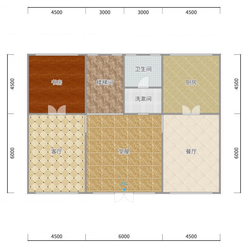 二层半别墅-一楼户型图