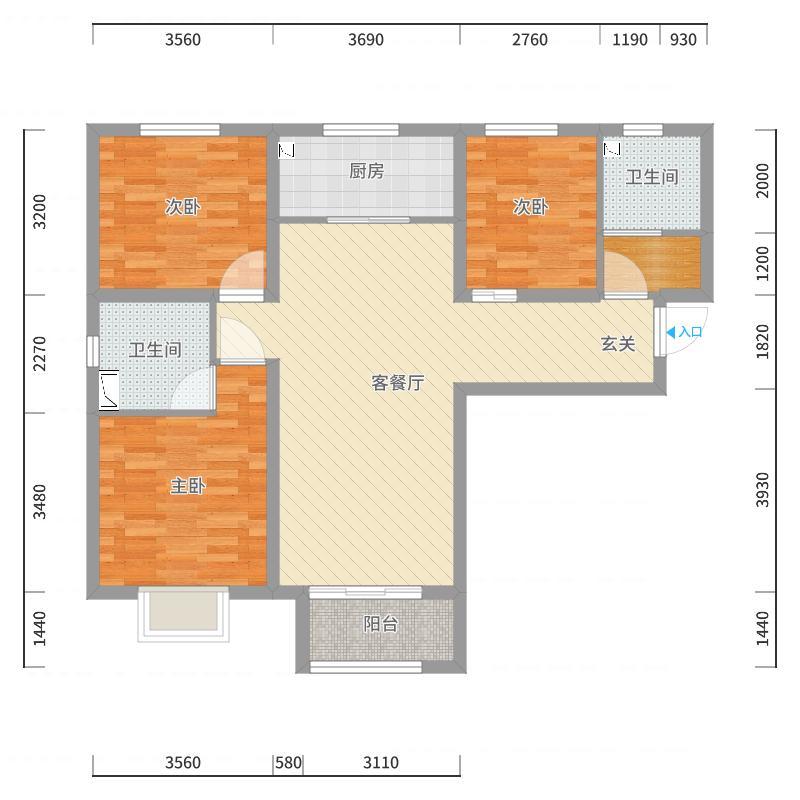 天津_世贸_2017-10-22-1519户型图