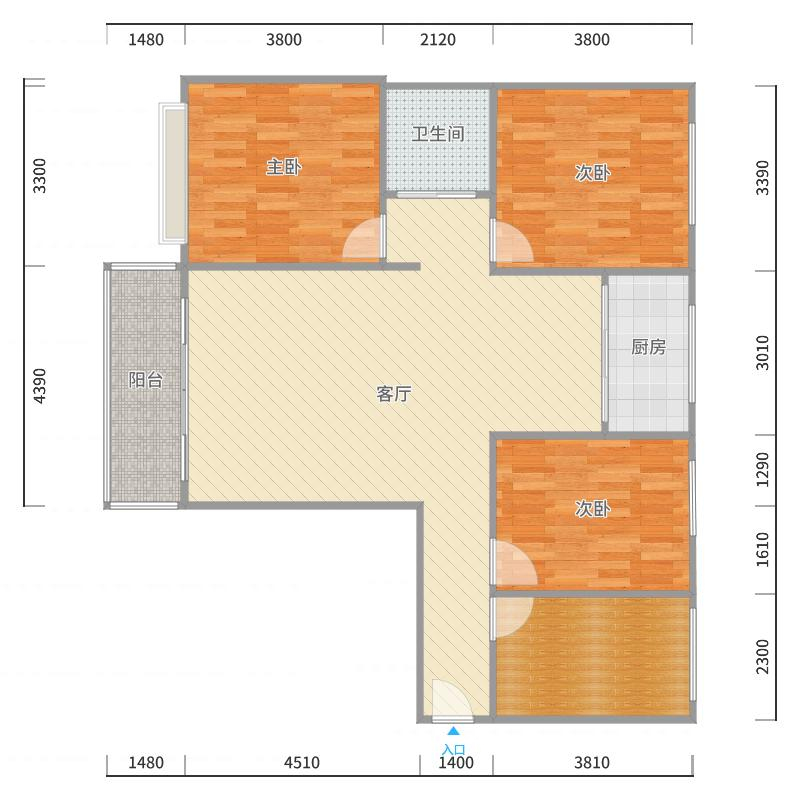 香邑溪谷上园8号楼西门户型图