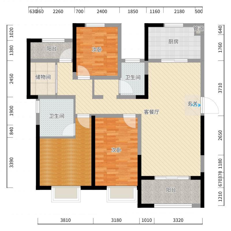 徐州_海尔・滟澜公馆_2017-10-22-1723户型图