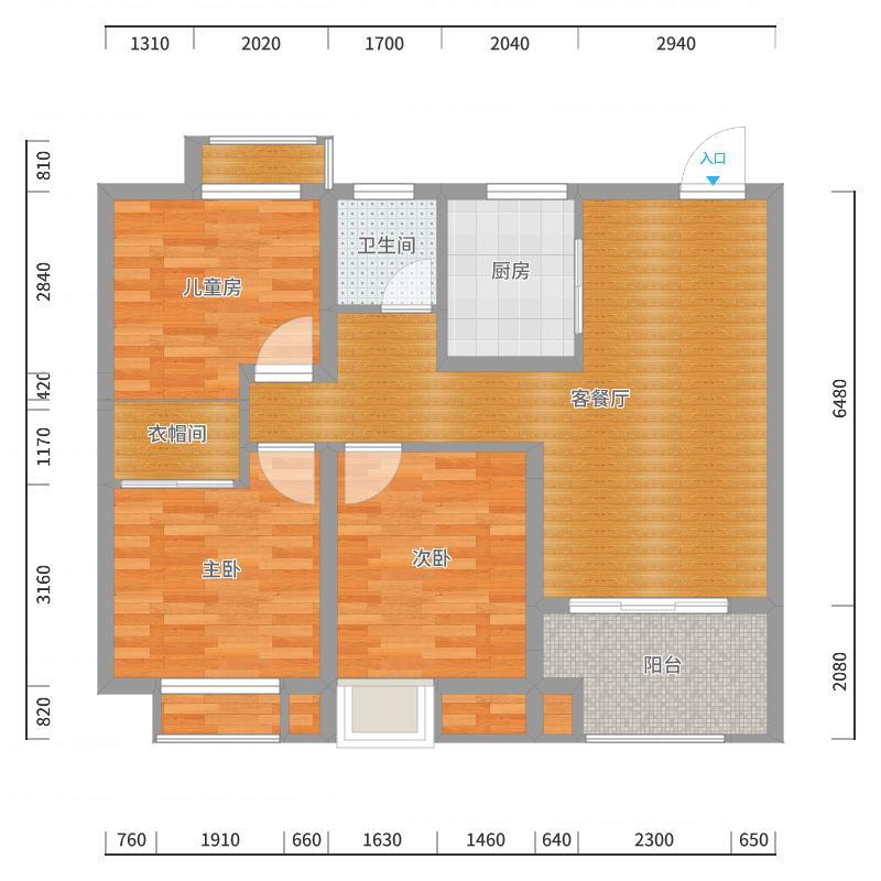 丽珠华庭95户型导入3D-副本户型图