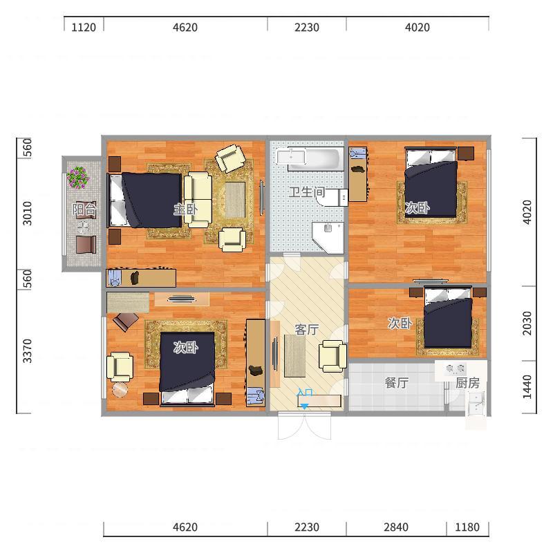统建宿舍户型图