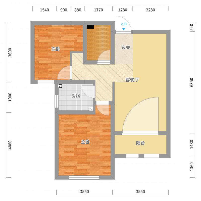 廊坊_翡翠城_1-1903装修设计方案-副本-副本户型图
