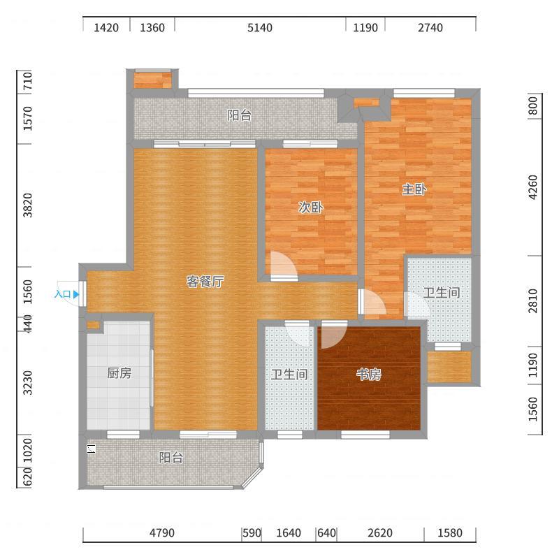 中亚和园9号楼1单元903户型图