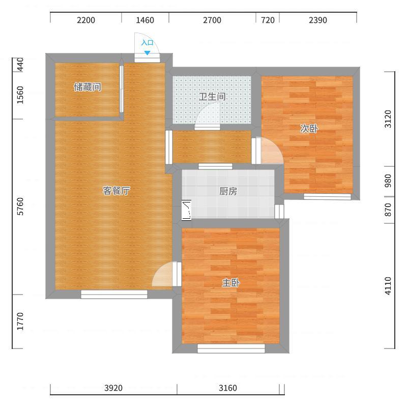 万悦1号楼2单元402户型图