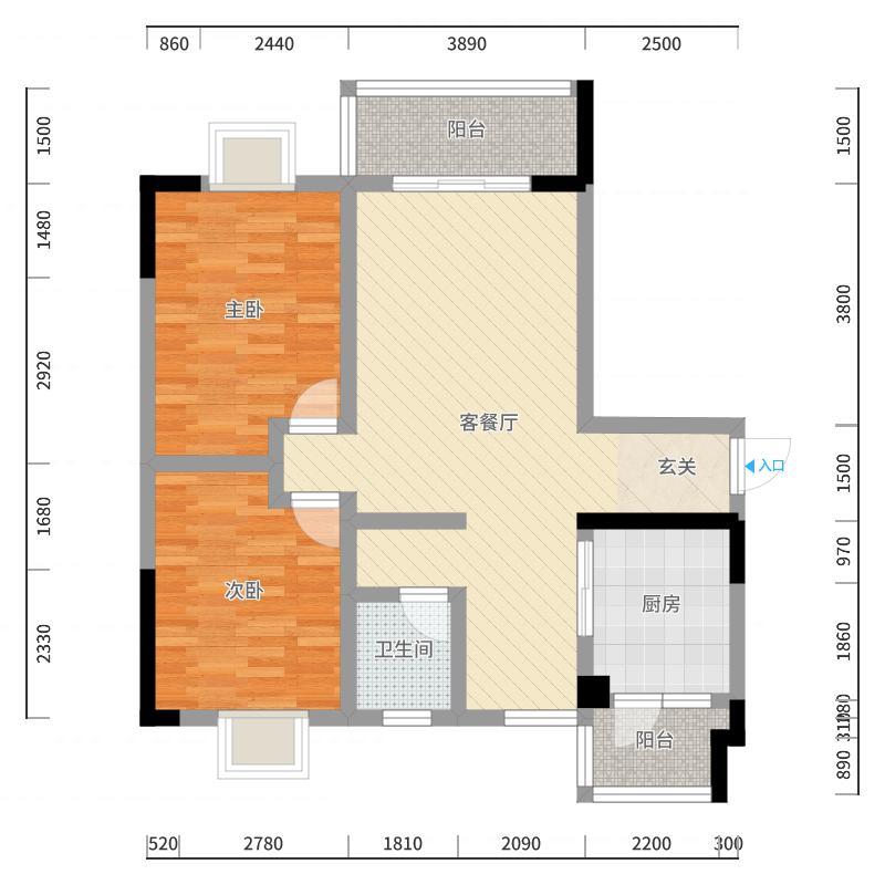 创盛佳园4栋1单元403户型图