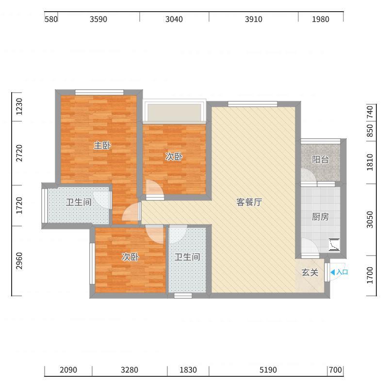 紫荆城邦户型图
