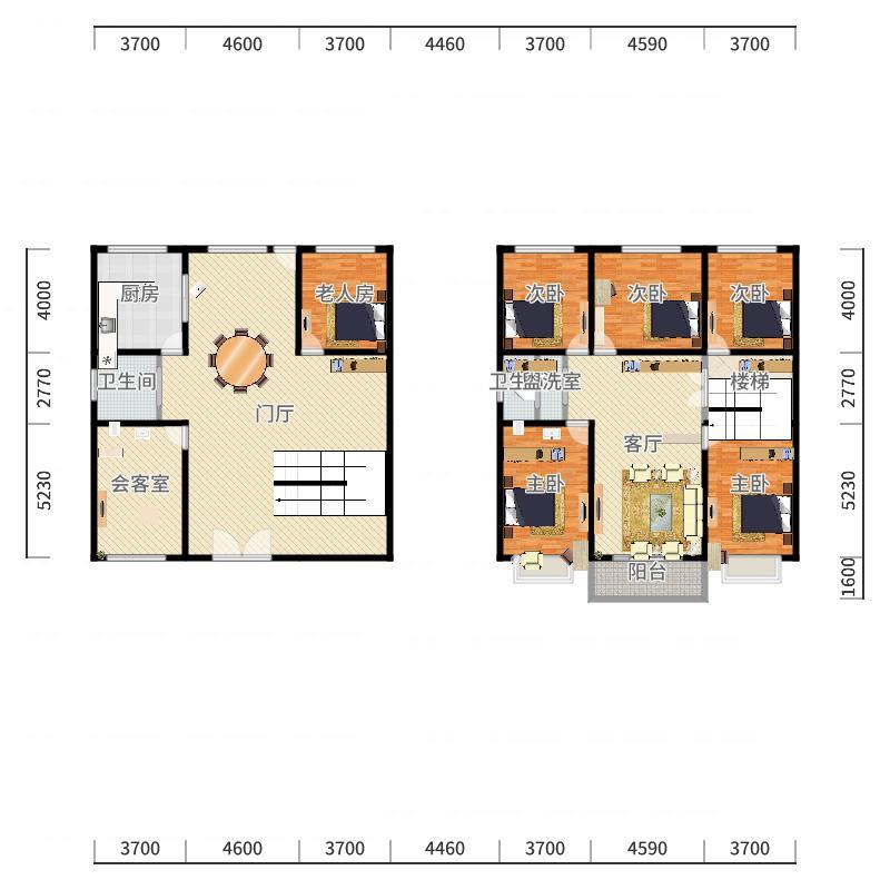 长沙_农村2层平房_2015-12-30-1701户型图