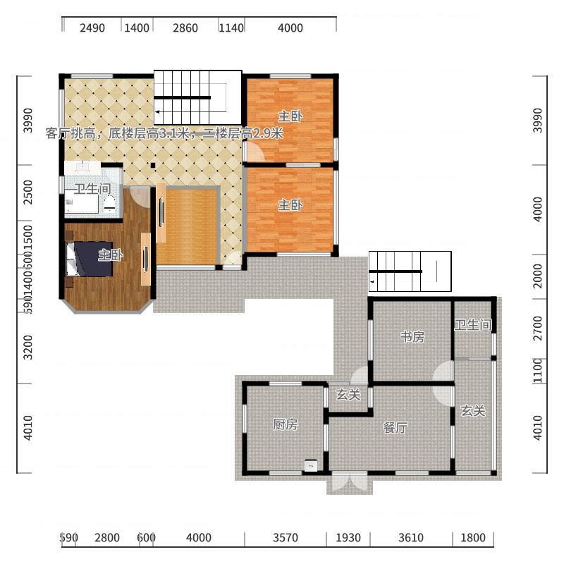 平房设计方案1-副本户型图