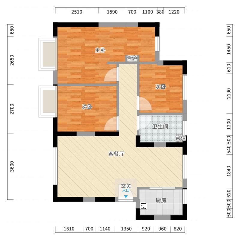 天津_中骏云景台_2017-10-23-1706户型图
