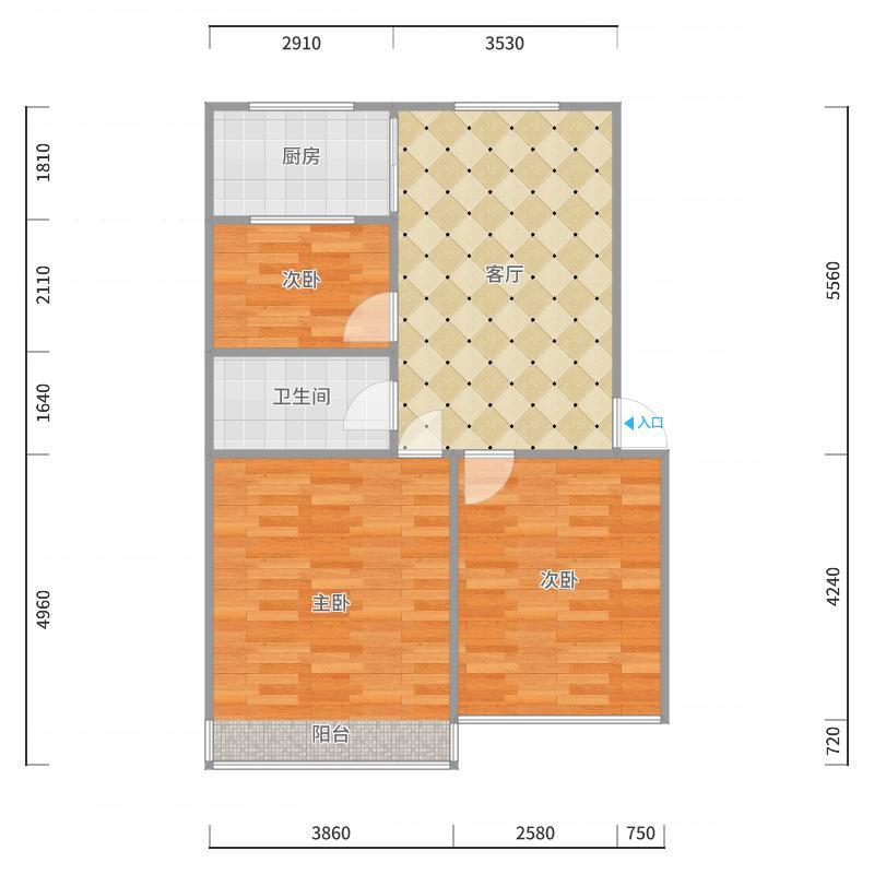 经典3居户型图
