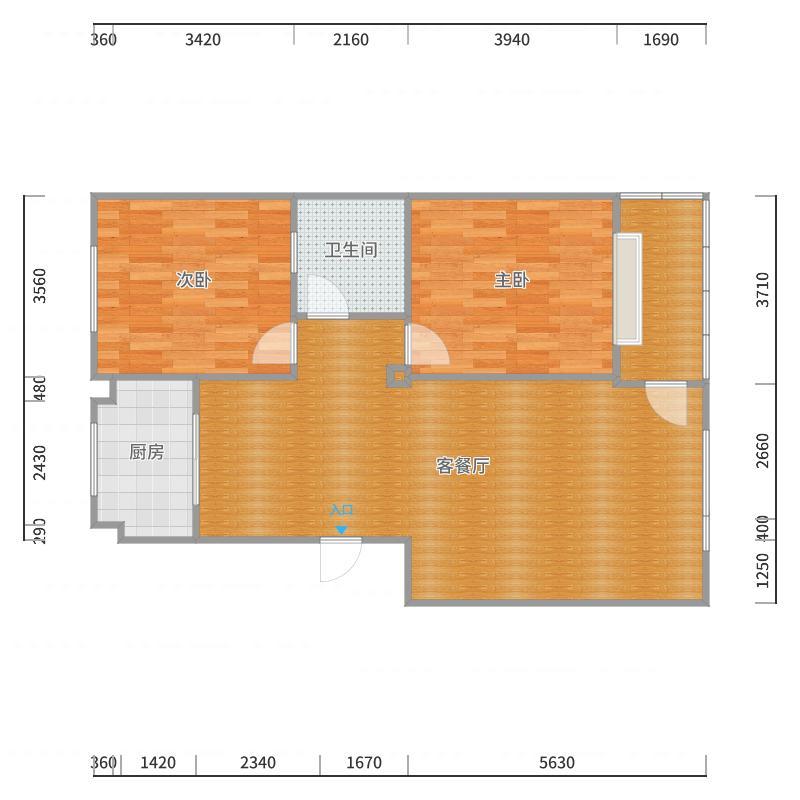 锦鲤七区-18-2-201客厅户型图