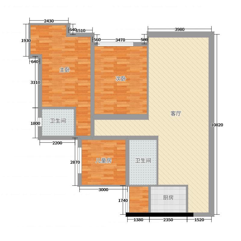 美式客厅户型图