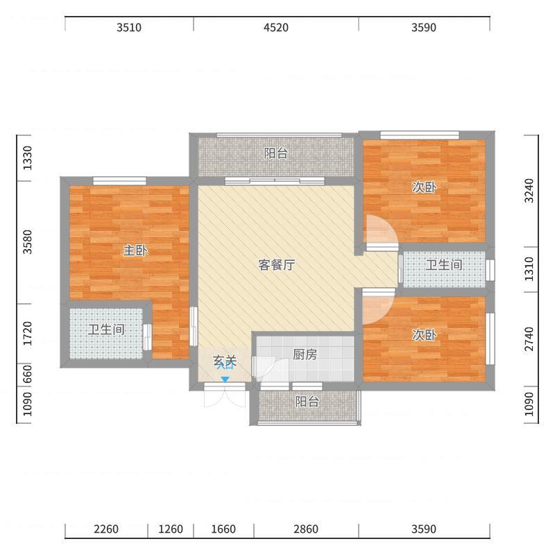 上海广场名仕新苑户型图