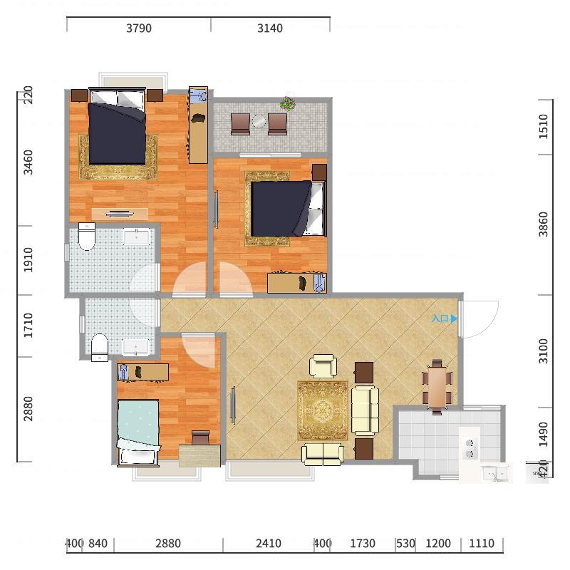 宿州-龙登和城-设计方案-副本-副本户型图