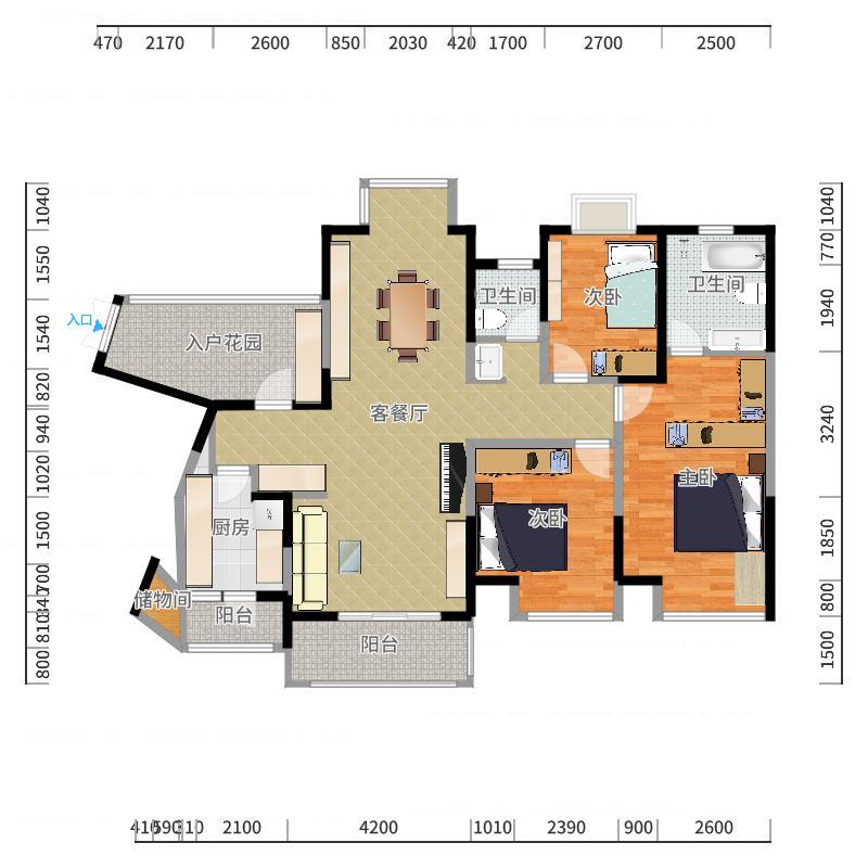 武汉-光谷新世界-设计方案户型图