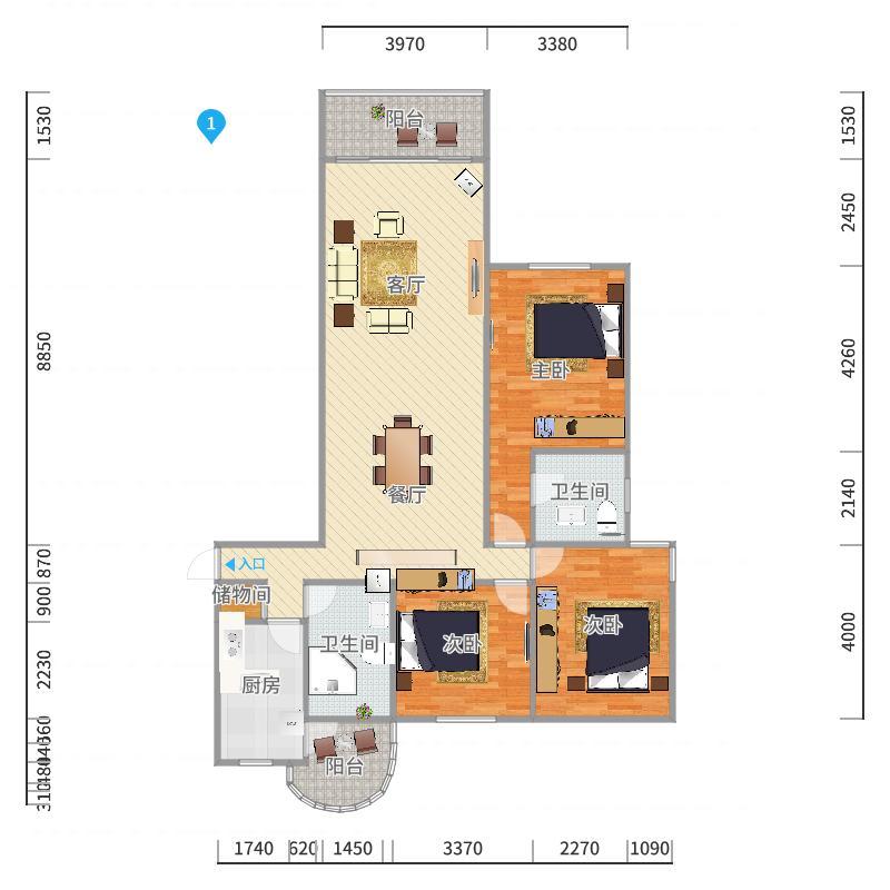 康馨公寓户型图