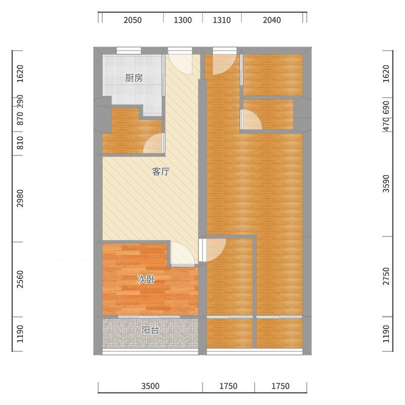 平层2套尺寸-副本户型图
