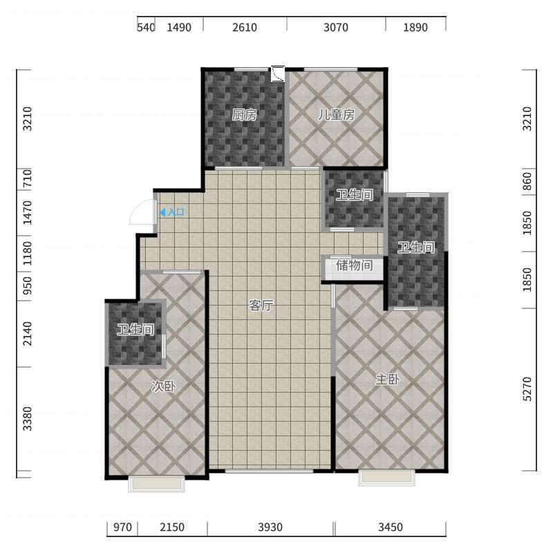 合同图严格自画-狗测精确版-打印使用版户型图