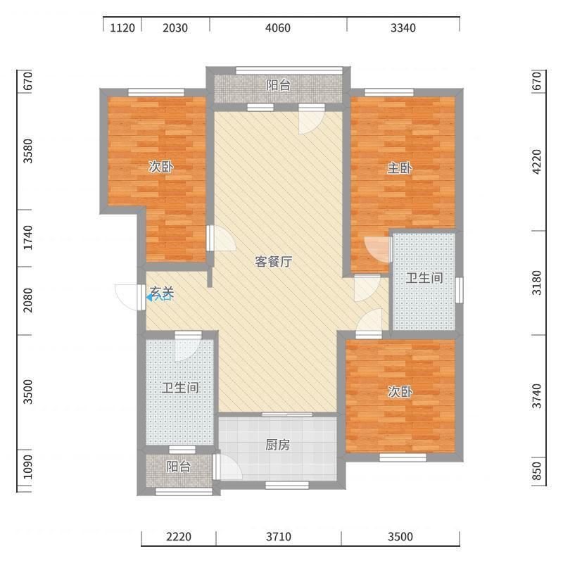 雨润中央宫园户型图