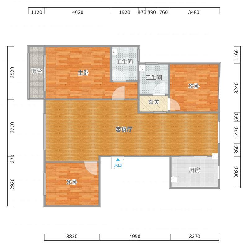 练习.新中式.文安兴文小区北楼2单元17楼西.17.10.2户型图