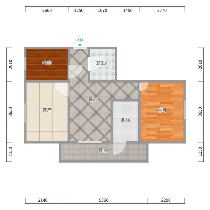 哈尔滨市道里区群力新苑A06-X单元X01室(毛坯)户型图