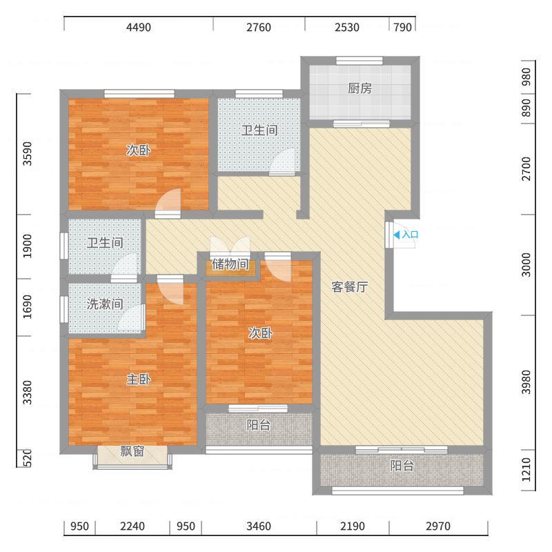 五福广场户型图