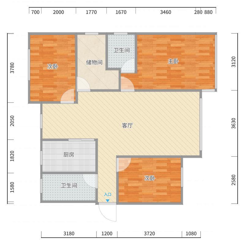 阳光尚都5号楼1单元户型图