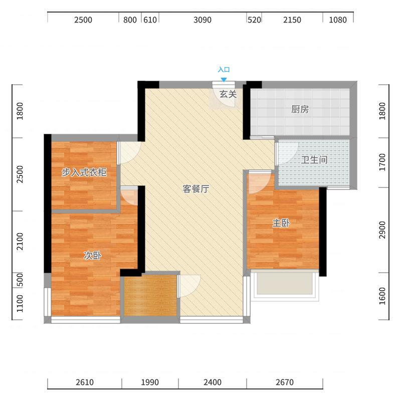 科瑞江韵户型图