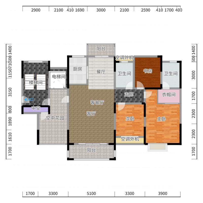 金色阳光三期户型3室1厅2卫1厨-副本户型图