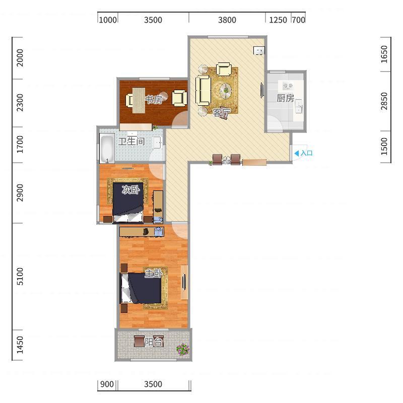 德蚨家园B7原始户型图