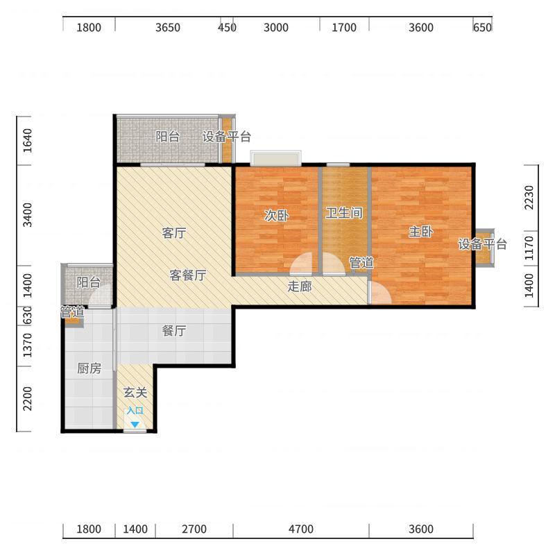 国典华园103.79㎡3#楼A面积10379m户型户型图