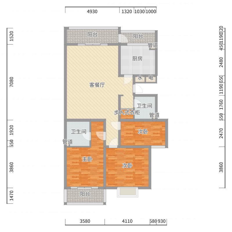 景绣苑155.42㎡面积15542m户型户型图