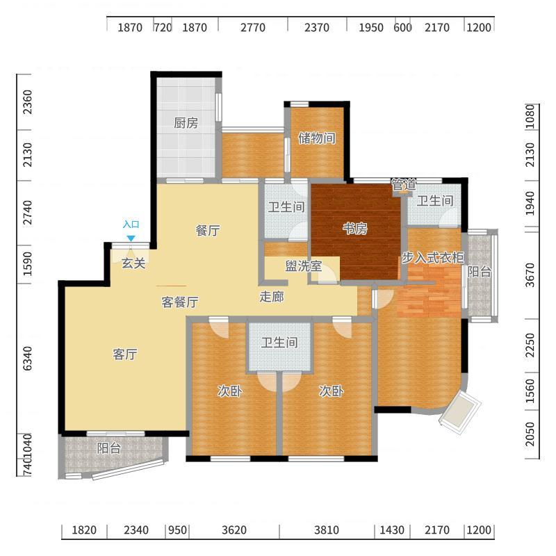 仁恒海河广场户型图