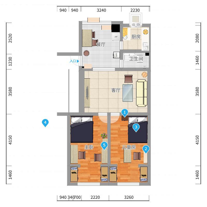 公安巷7楼-副本户型图