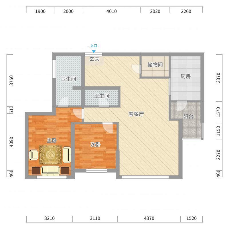 远洋天地远洋天地10室户型10室-副本户型图