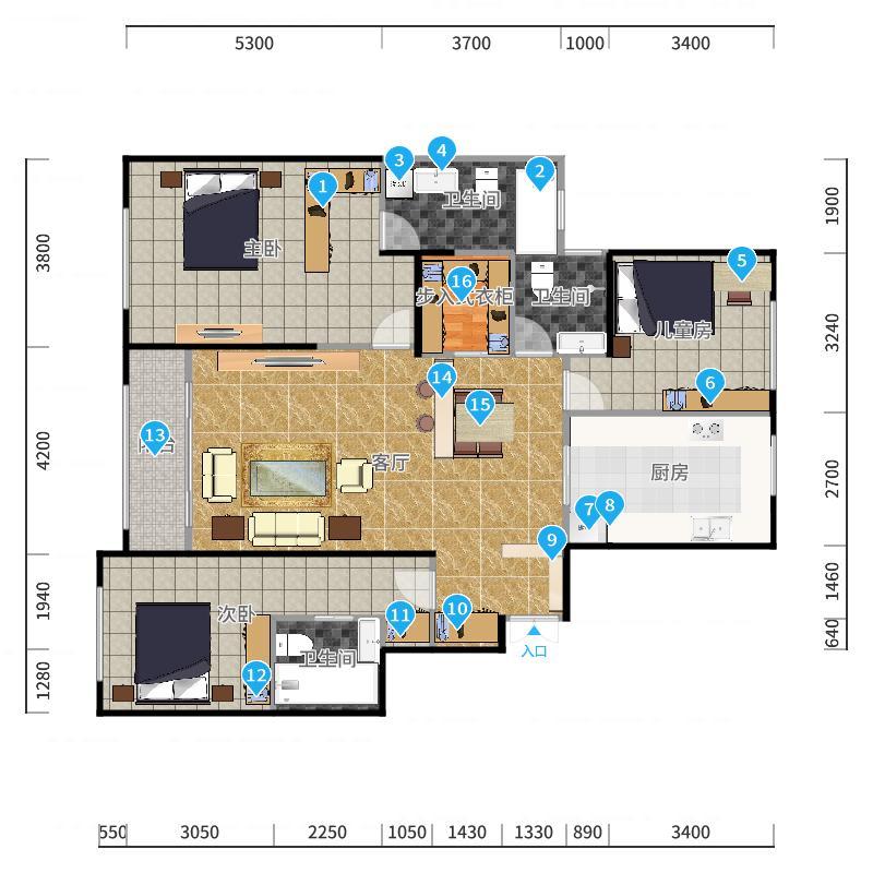 合同图严格自画-副本厨房增大修改版-副本户型图