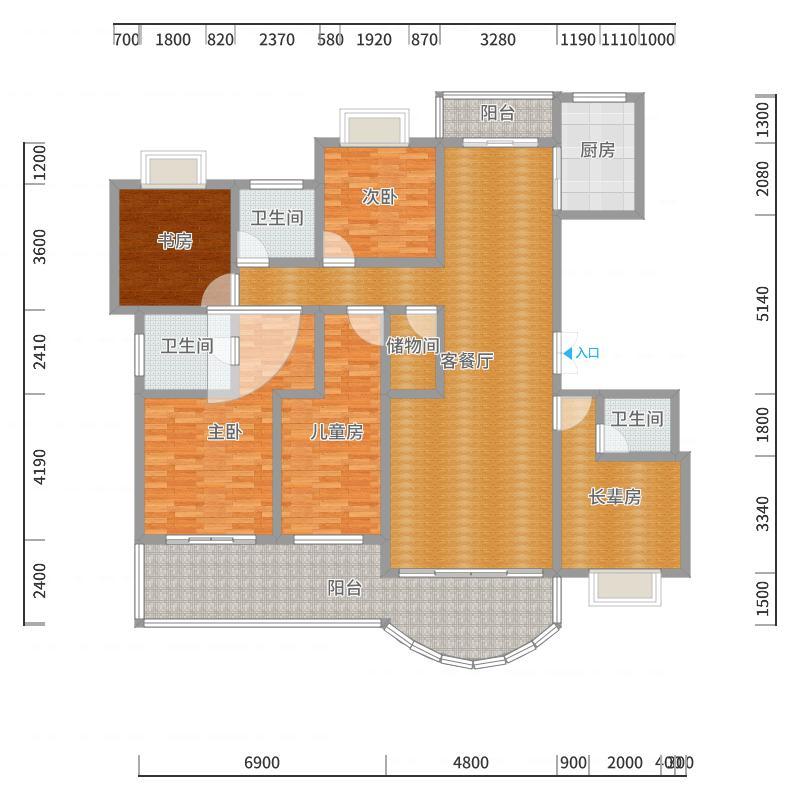 200平欧式客餐厅、-副本-副本户型图