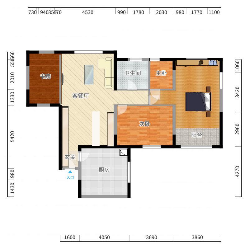 宏泰公寓户型图