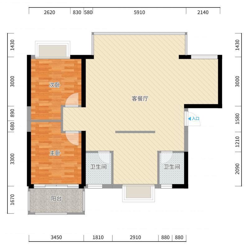 建发中央公园户型图