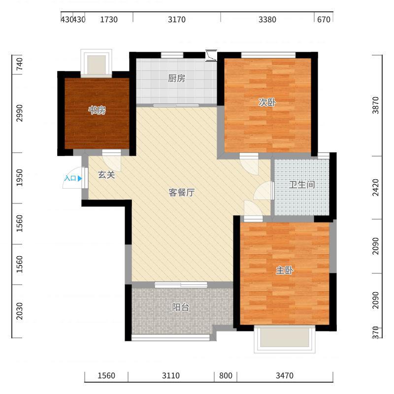 宝龙城市广场户型图