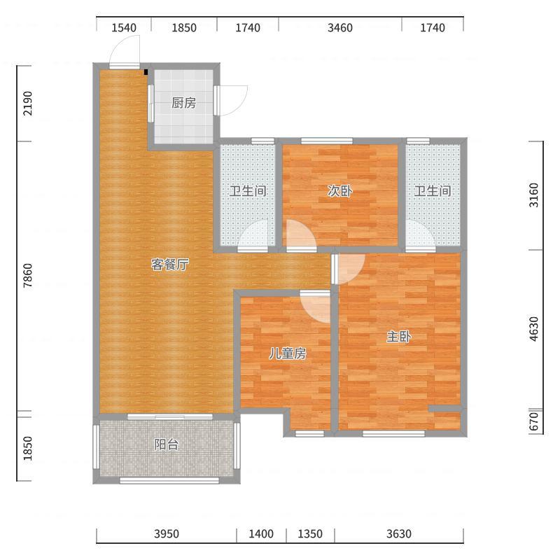 客户李先生丽都国际6-2107户型图