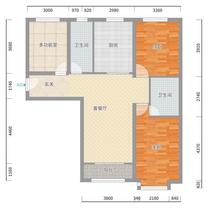 世贸广场127.00㎡2号楼户型户型图