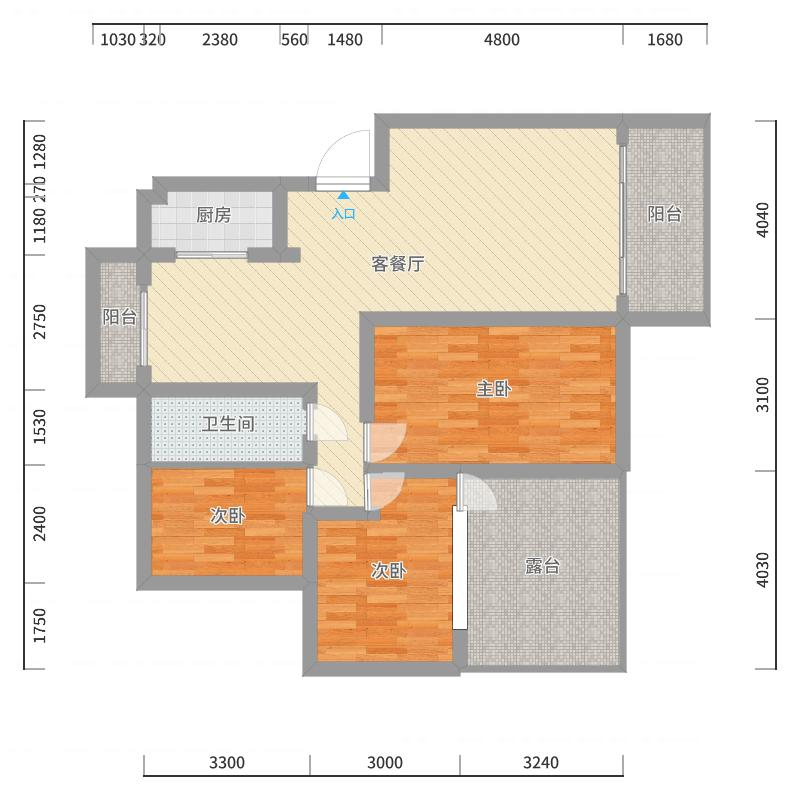 丽景滨江2户型图