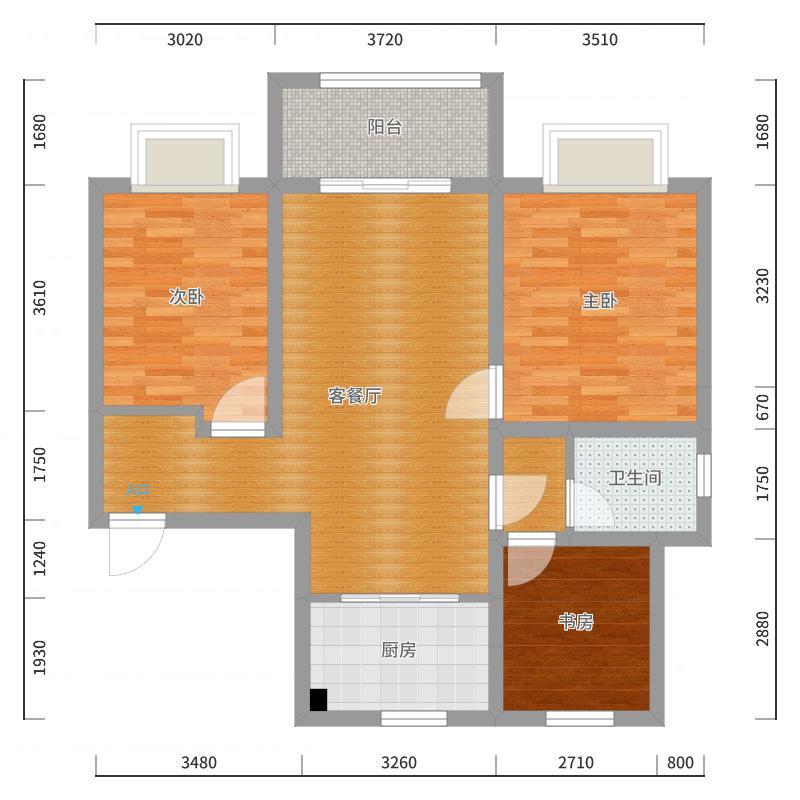 白马澜山B1方案2新中式-郭宏伟-副本户型图