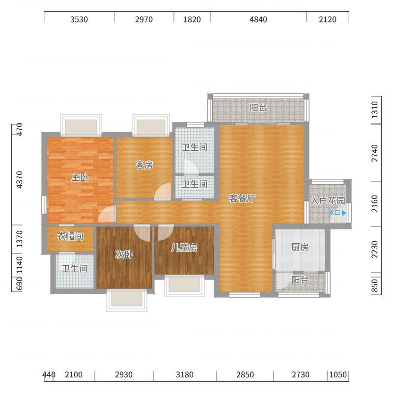诗尼曼全屋定制-丰华和家园-A户型-副本户型图