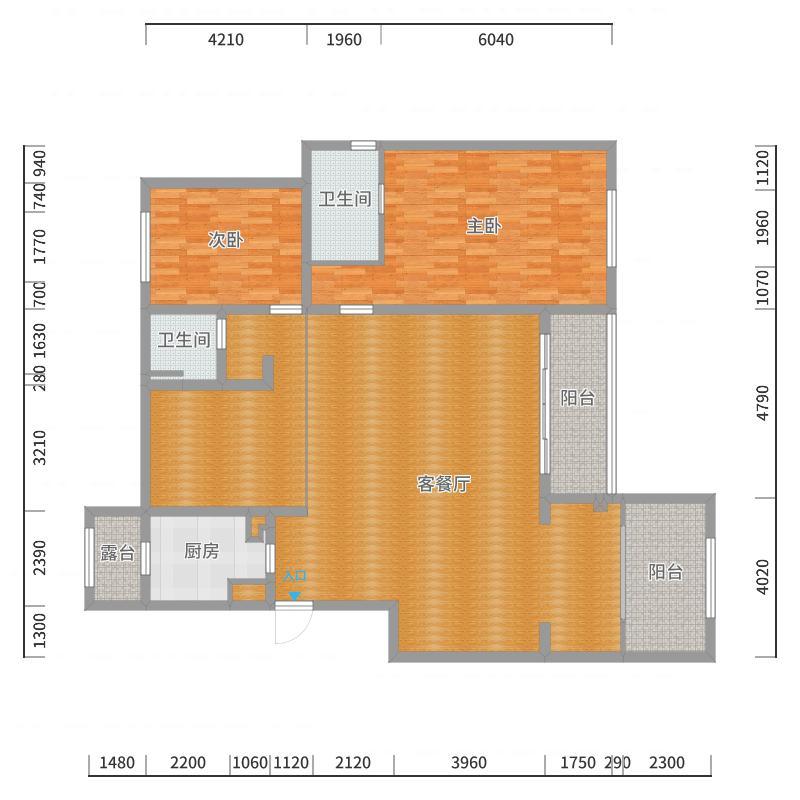 万科金域蓝湾-60栋-203-1楼户型图