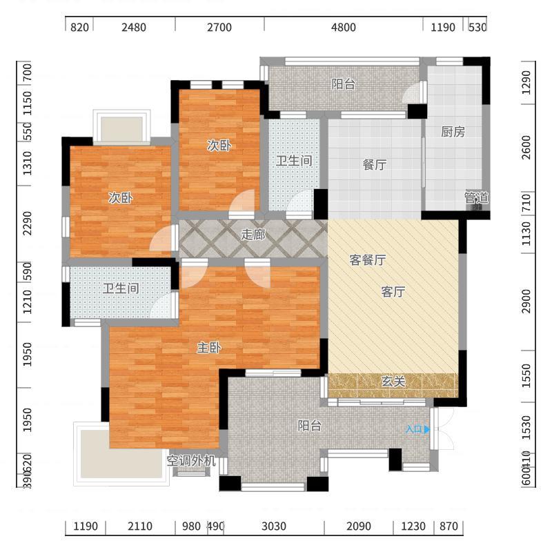 中央皇庭户型图