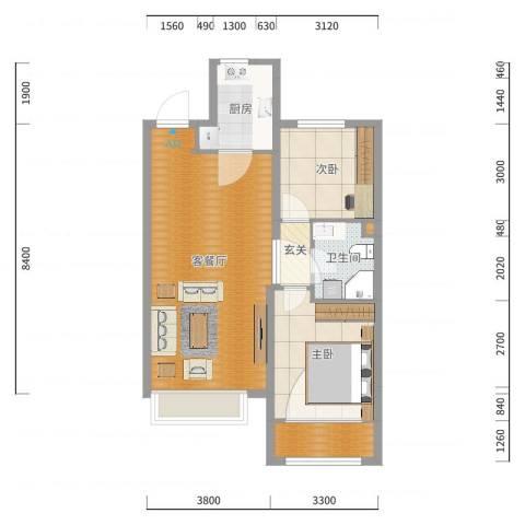 博辉万象城8#9#-----92平米东室.-副本户型图
